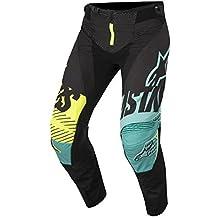 Alpinestars Techstar Screamer Motocross pantalones 2018–schwarz, color turquesa neón amarillo, Schwarz, Turquoise, Neon Yellow
