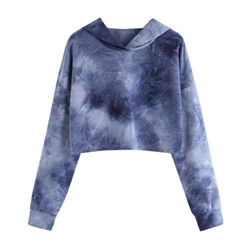 OverDose Damen Herbst Winter Sport Style Frauen Hoodie gedruckt Patchwork Sweatshirt Langarm Pullover Tops Bluse Outdoor Pullover Anzug -