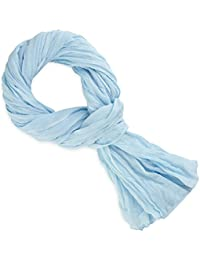 Chèche coton bleu ciel