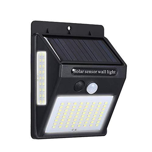 Ltteny Solar Luz, 100 LED Lámpara Exterior de Pared Brillante IP65, 20W 5.5V Lámpara con 3...