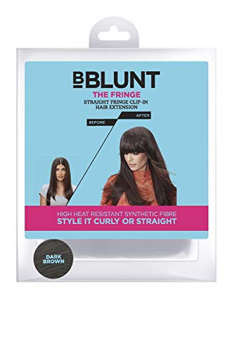 BBlunt the Fringe Straight Fringe Clip on Hair Extension, Dark Brown Fab Fringe