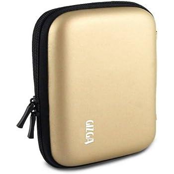 "GIZGA 2.5"" HDD CASE  HARD SHELL Gold Colour"