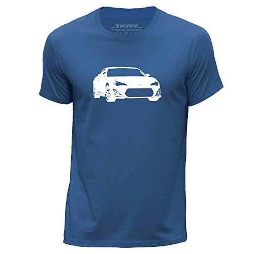 stuff4-hommes-moyen-m-bleu-royal-col-rond-t-shirt-stencil-art-de-voiture-gt86-brz