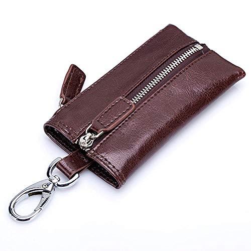 SaixnYz Schlüsseltasche schlüsselanhänger Auto nach Hause multifunktions Leder Retro reife stabile persönlichkeit Mode Exquisite Unisex (12,3 cm * 6 cm * 0,5 cm), braun