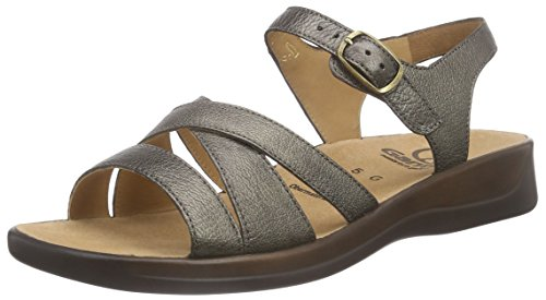 Ganter Monica, Weite G, sandales ouvertes femme gris (metall 6500)