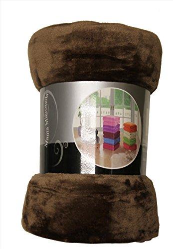 ForenTex - Manta de sedalina, (LI-180 MARRÓN), Ultra suave, microseda, para abrigarte con estilo y confort, 180 x 220 cm, 1 kg. No suelta pelo. Para sofá y cama. 1-4 mantas paga solo un envío, descuento equivalente antes de finalizar la compra.