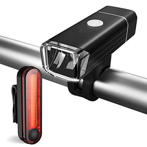 Wasserdicht LED Bike Lights Set Scheinwerfer, Rücklicht tianranrt USB wiederaufladbar Fahrrad Cycling Mountain Cycle LED Vorder- und Rücklicht Set, Style B (Led-licht-kajak)