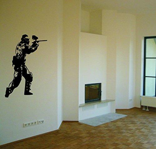 Wandtattoo: 'Paintball'// Farben- und Größenwahl (Grau - 450 mm x 360 mm)