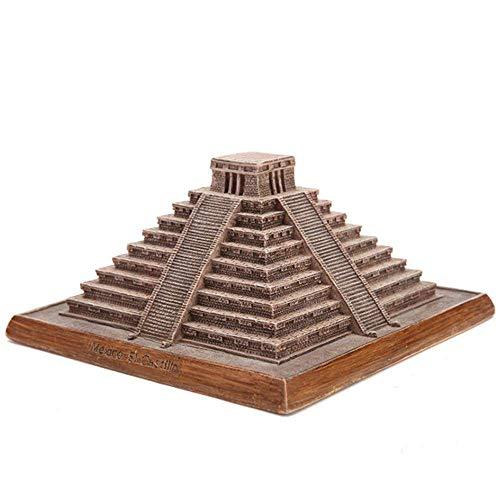 HPDOM Dekorative Hausdekoration, Architekturmodell Dekoration, Mexiko Maya-Pyramide, Architektonische Sammlung, Wohnzimmer Dekoration Harz Handwerk, Souvenir Geschenk (12,5 X 12,4 X 6,2 cm) (Mexiko-handwerk)