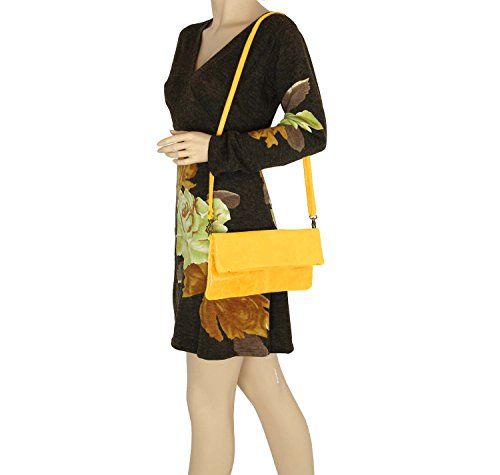 OBC Only-Beautiful-Couture, Borsa a spalla donna Rosso rosso 30x16x4 cm (BxHxT) giallo