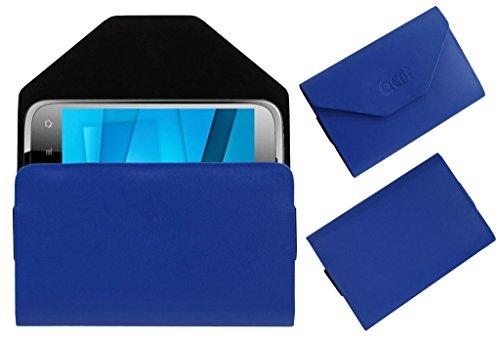 Acm Premium Pouch Case For Karbonn Smart A15 Flip Flap Cover Holder Blue  available at amazon for Rs.179
