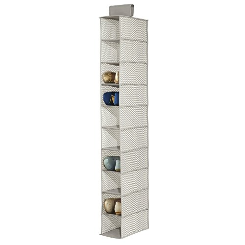 mdesign-chevron-soft-storage-for-closet-10-shelf-shoe-organizer-taupe-natural