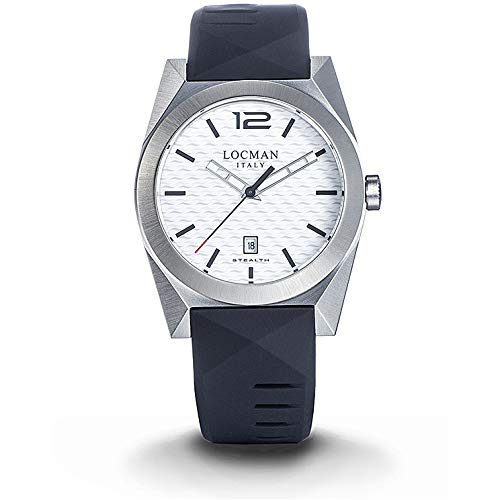 Men's Stealth Steel and Titanium White Locman Watch