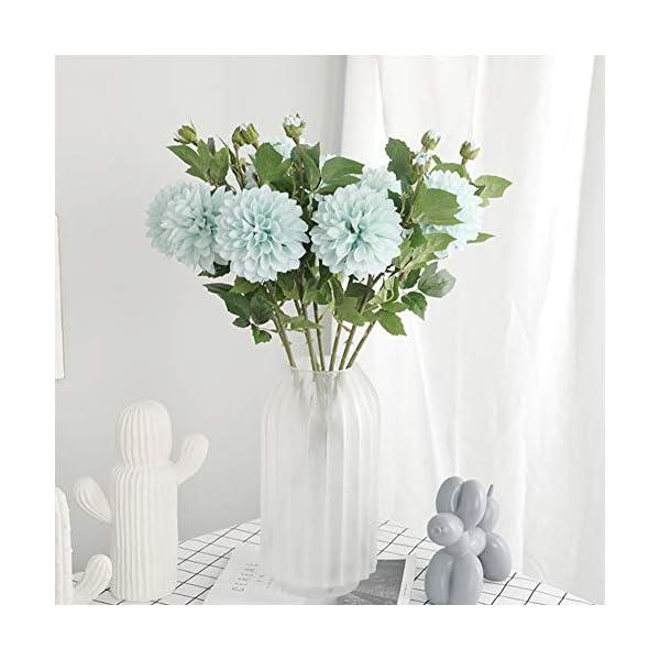 NAttnJf 1 Unid Flor Artificial Azteca Dalia Fotografía Prop Boda Home Office Hotel Decoración Floral Blue