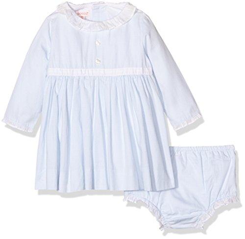Gocco Vestido DE Manga Larga, Vestito Bimba, Blu (Celeste Bebé), 18-24 Mesi (Taglia Produttore: 18/24)