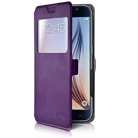 Seluxion - Etui S-View Universel M Couleur Violet pour Yezz Andy 5EI2