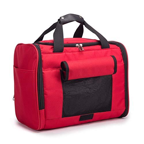 dfyjrikj Oxford Tuch Haustier Tasche Hund aus Reisetasche tragbare Hund Tasche Teddybär Tasche rot Code35cm * 29cm * 23cm