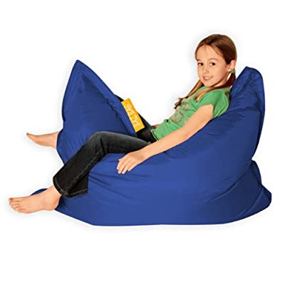 Kids BAZ BAG BLUE Beanbag Chair - Indoor & Outdoor Kids Bean Bags by Bean Bag Bazaar