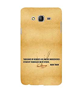 For Samsung Galaxy On 7 Pro thousands of geniuses live and die undiscovered either by themselves or by others, good quotes, brown background Designer Printed High Quality Smooth Matte Protective Mobile Pouch Back Case Cover by BUZZWORLD