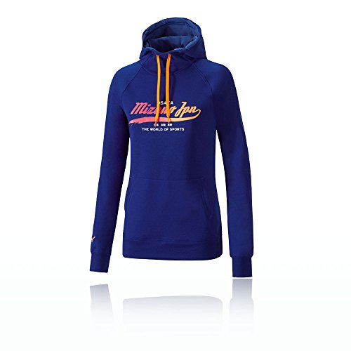 Mizuno Damen Heritage Hoody Sweatshirt, Dunkelblau/Navy, S -