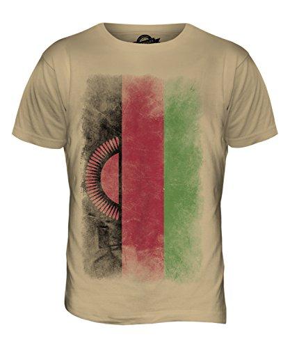 CandyMix Malawi Verblichen Flagge Herren T Shirt Sand