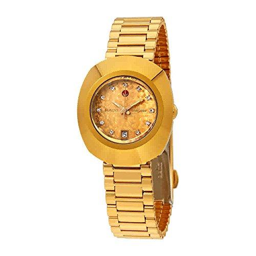 Rado Original R12416643 - Reloj para mujer, esfera de oro amarillo