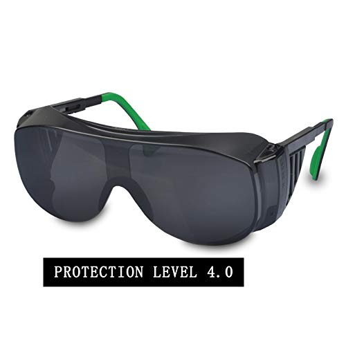 FS Schweißbrillen, Schweißerschutzbrillen/Arbeitsschutz Anti-Schock-Blendung Sonnenbrille Anti-Spritz-Schweißen Augenmaske (Farbe : Darkness 4.0)