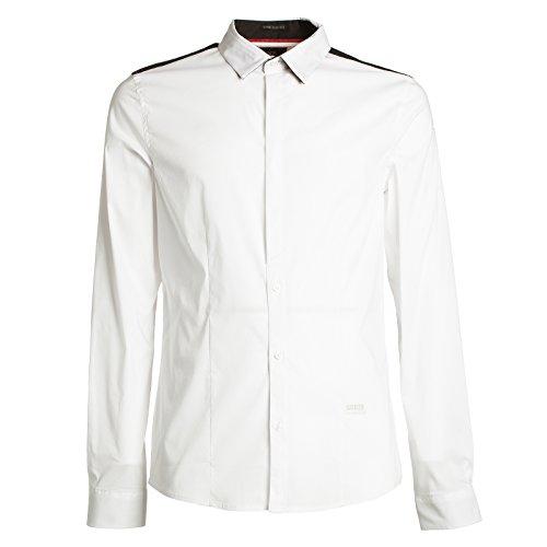 Guess Jeans M53H01W5M50 Hemd mit Langen Ärmeln Harren Weiß 009 XL