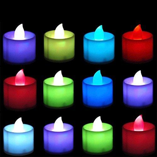 LED sin llama velas que cambia de color recargable operated-12pcs./unidades