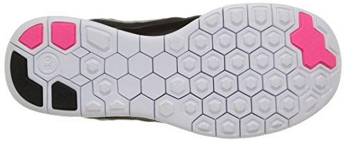 Nike Free 5.0 (Gs) Scarpe Sportive, Ragazza Blck/Mtllc Slvr-Vvd Pnk-Pnk Pw