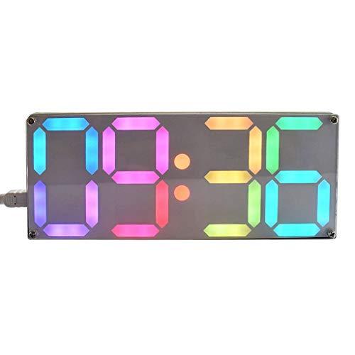 Cuigu Digitaluhr Große Regenbogen Farbe Digital Tube DS3231 Uhr LED Digitaluhr DIY Kit