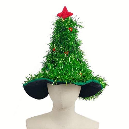 Amosfun Forma árbol Navidad Sombrero Sombrero Paja