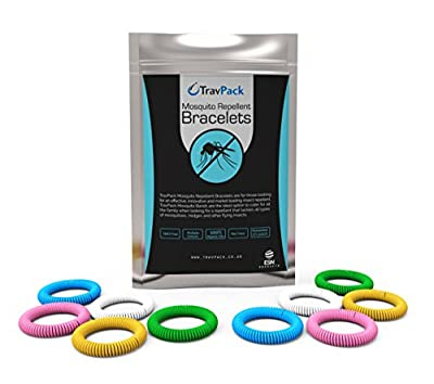 TravPack® PREMIUM Mosquito Repellent Wristbands (x10 Assorted Colours) - KEEP MOSQUITOES AWAY NOW! Market Leading Insect Repellent, Scientifically Designed With 250 Hours Use Per Bracelet!