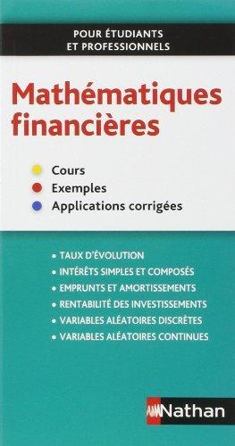 Mathématiques financières de Olivier Le Dantec (17 octobre 2013) Broché