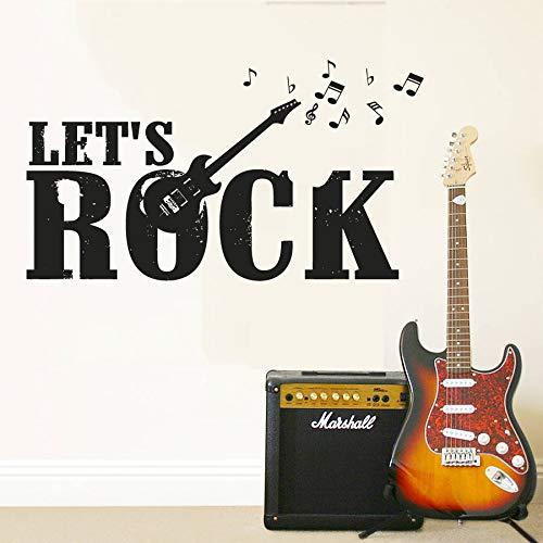 Wie Sie Lotus Notes Verwenden (yaoxingfu Musik Wandaufkleber Lets Rock Guitar Electro Wandtattoo Music Notes Band Wandkunst Wandhauptdekor Music Studio Wallpaper A gelb 75x42cm)