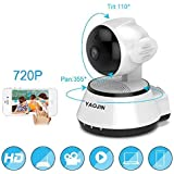 YAOJIN W4 720p HD WiFi Wireless IP Security Camera CCTV [Ivory White]