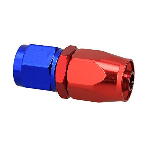 WEONE rosso e blu alluminio lucidato AN-6 diritto girevole del tubo flessibile estremità dell'adattatore Fuel Oil