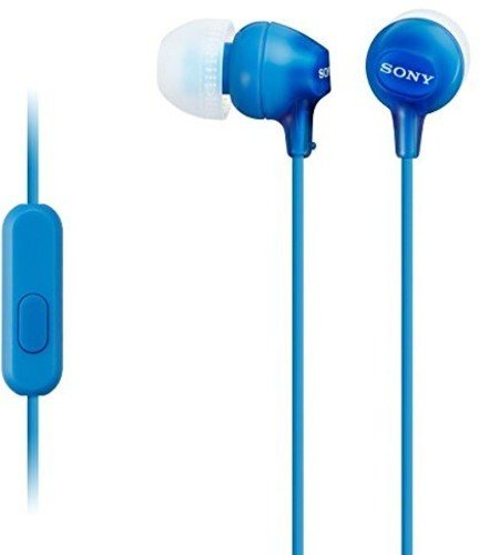 Sony MDR-EX15AP In-Ear Stereo Headphones with Mic (Blue)