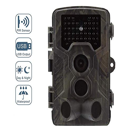 Hunter Camera 14MP 1080P Spielkamera mit Nachtsichtbewegungsaktivierter wasserdichter Wildlife-Jagdkamera 120 ° Detection 0.3s Trigger - Camera Hunter
