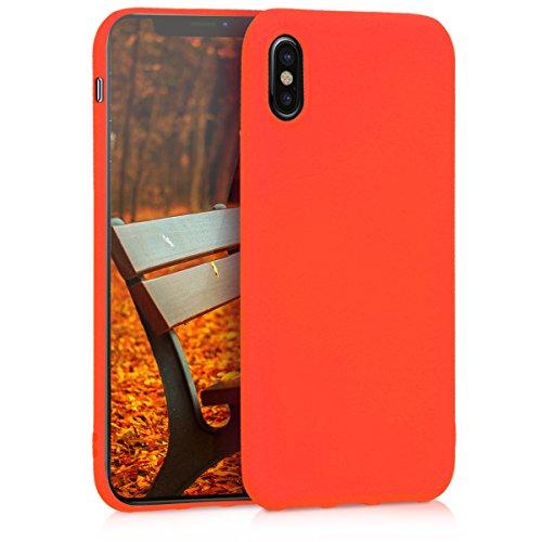 kwmobile Apple iPhone X Hülle - Handyhülle für Apple iPhone X - Handy Case in Neon Orange