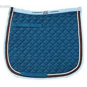 USG Baumwollschabracke - Dressur - petrol/beige/braun/hellblau - Pony