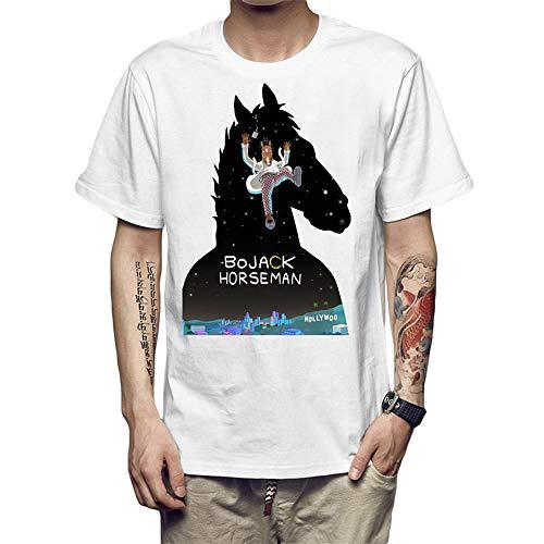 Bojack Horseman Camiseta Cómoda Moda clásica de Manga Corta Camiseta de Tendencia Hombres (Color : A04, Size : L)