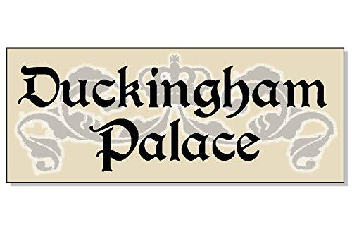 Dom3inic cluckingham Palace Funny Acryl Outdoor Schild für Huhn Henne Coop House Run Garten Küche Yard Tür Tor Wand 19,1x 7,6cm. -