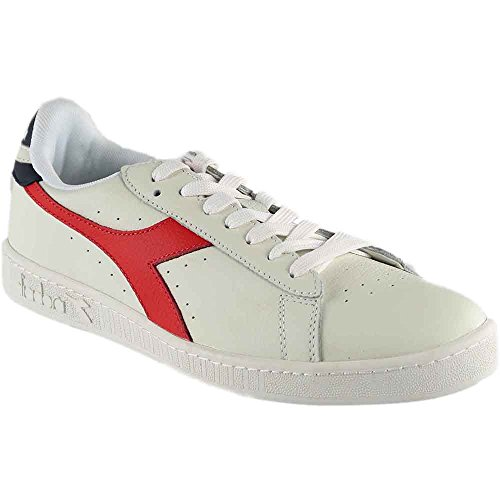 Diadora Game L Low Waxed - 501.160821 01 WHITE/FIERY RED/DRESS BLUES C7210 - rosso