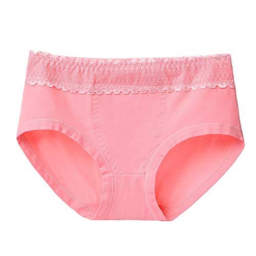 OSYARD Culotte Femme Coton Dentelle, Femme Mi-Rise Garder Chaud Dentelle Culottes Slip de Coton Pur Respirant de Grande Taille de Hanch