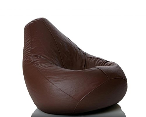 Placid Bean Bag XL Brown Filled with Bean Filler
