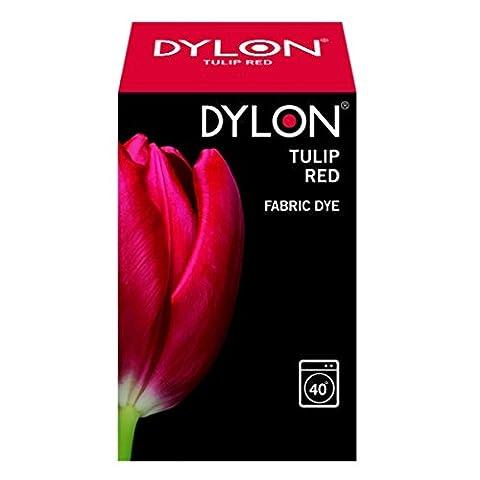Dylon Teinture textile pour machine à laver Rouge tulipe 200 g