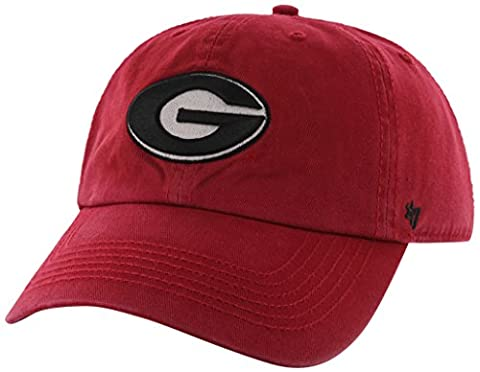 NCAA Georgia Bulldogs '47 Brand Clean Up Adjustable Hat, Red 1, One Size
