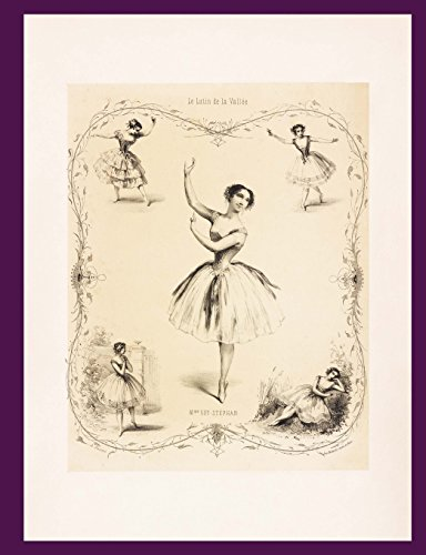 Notebook: Vintage Ballerina Blank Book - College Ruled - 100 Sheets - 200 Pages por Fancique