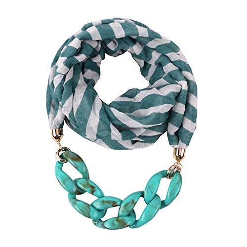 Sayla Schals Tücher Damen Winter Elegant Stil Anhänger Schal,Damen Schal Halsschmuck Anhänger Anhänger Ring Lätzchen Strass Schmuck-Schal